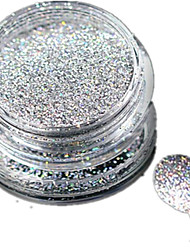 cheap -1 bottle nail art laser silver glitter shining powder manicure decoration nail beauty l03