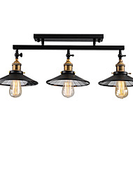 cheap -Vintage Loft Ceiling Lamp  Flush Mount Light Direction Adjustable 3-Head  Metal Mirror Glass Living Room ,Dining Room