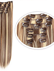 cheap -Hair Piece Straight Classic Synthetic Hair Hair Extension Clip In Daily