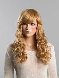 cheap -Human Hair Wig Curly Classic Style Capless Beige Blonde / Bleach Blonde Auburn Brown / Bleach Blonde Dark Black Daily