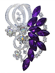 cheap -Women's Brooches Marquise Cut Vintage Fashion Rhinestone Brooch Jewelry Purple Blue For Wedding Party Special Occasion Birthday Gift Daily