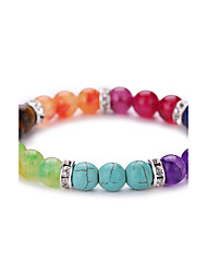 cheap -Agate Bead Bracelet Beads Vintage Simple Style Fashion Colorful Synthetic Gemstones Bracelet Jewelry Green For Party Daily Casual