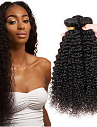 cheap -3 Bundles Hair Weaves Indian Hair Kinky Curly Human Hair Extensions Remy Human Hair 100% Remy Hair Weave Bundles 300 g Natural Color Hair Weaves / Hair Bulk Human Hair Extensions 8-26 inch Natural