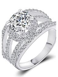 cheap -Statement Ring Golden Silver Statement Vintage Fashion 6 7 8 9 / Women's / Crystal