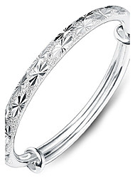 cheap -Women's Bracelet Bangles Heart Love Ladies Fashion everyday fancy Sterling Silver Bracelet Jewelry Silver For