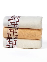 cheap -3 Pieces Full Cotton Bath Towel Set(1 Bath Towel, 2 Hand Towels)  Plaid Pattern Super Soft With Gift Package