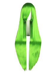 cheap -Cosplay Wigs Code Gease Cirno Green Long Anime Cosplay Wigs 100 CM Heat Resistant Fiber Male / Female