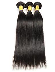 cheap -3 Bundles Indian Hair Straight Human Hair Natural Color Hair Weaves / Hair Bulk Human Hair Weaves Human Hair Extensions / 8A