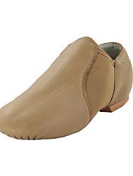 cheap -Women's Dance Shoes Leatherette Jazz Shoes / Dance Boots Flat Flat Heel Non Customizable Black / Brown / Indoor / EU41