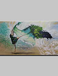cheap -Oil Painting Hand Painted - Landscape Modern With Stretched Frame / Stretched Canvas With Stretched Frame