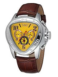 cheap -WINNER Men's Wrist Watch Mechanical Watch Automatic self-winding Luxury Calendar / date / day Analog White Black Yellow / Stainless Steel / Leather