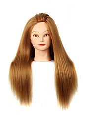 cheap -yaki synthetic hair salon female mannequin head with make up