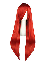 cheap -Fairy Tail Elza Scarlet Cosplay Wigs Men's Women's 32 inch Heat Resistant Fiber Red Anime