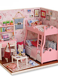cheap -CUTE ROOM Dollhouse Pretend Play Model Building Kit Novelty DIY Furniture House Wooden 1 pcs Toy Gift
