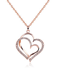 cheap -Pendant Necklace Mother Daughter Rhinestone Rose Gold Plated Alloy Golden Necklace Jewelry For Party Daily