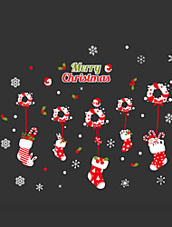 cheap -Wall Stickers Wall Decals Style Christmas Garland Stocking PVC Wall Stickers