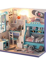 cheap -Hoomeda Dollhouse Pretend Play Novelty House Wood 1 pcs Toy Gift