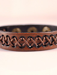 cheap -Men's Wrap Bracelet Leather Bracelet Vintage Bohemian Punk Fashion Paracord Bracelet Jewelry Black / Brown For Party Daily Casual