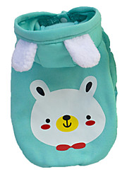 cheap -Dog Coat Hoodie Dog Clothes Animal Cartoon Green Blue Pink Cotton Costume For Spring &  Fall