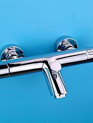 cheap -Shower Faucet / Bathtub Faucet - Contemporary / Modern Chrome Tub And Shower Ceramic Valve Bath Shower Mixer Taps / Brass / Single Handle Two Holes