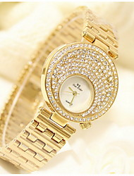 cheap -Women's Fashion Watch Pave Watch Quartz Japanese Quartz Sparkle / Analog Gold Silver / Stainless Steel / Stainless Steel