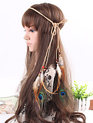 cheap -Women's Feather Fabric Hair Jewelry Special Occasion Casual