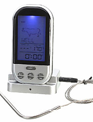 cheap -Wireless Remote Control Food Meat Outdoor BBQ Thermometer Home Kitchen Cooking Oven Thermometer