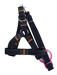 cheap -Dog Harnesses & Leash Adjustable / Retractable Solid Colored Textile Black Red Blue