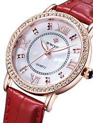 cheap -Women's Fashion Watch Quartz Japanese Quartz Casual Watch Analog White Black Red / Stainless Steel / Leather
