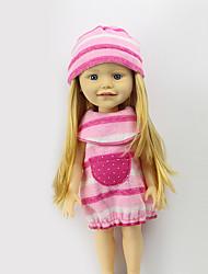 Недорогие -Sharon наборы 16-дюймовых одежды куклы платье принцессы шляпа моды аксессуаров одежды три свободных бледно-розовый