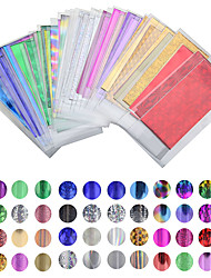 cheap -50 sheet of 35 cm 4 cm color mixing transfer foil nail art star design stickers