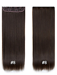 cheap -best quality straight synthetic clip in hair extensions 24 60cm 120g 5clips set heat resistant fiber synthetic
