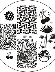 cheap -The Banana Tree Nail Plate Stamping Template Image Art BP46 Manicure Tool