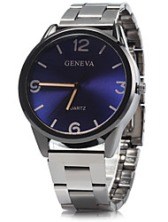 cheap -Men's Dress Watch Wrist Watch Quartz Blue / Silver / Analog Classic Casual - Brown Red Blue