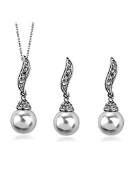cheap -Women's Pearl Jewelry Set Pendant Necklace Necklace / Earrings Ladies Fashion Pearl Imitation Pearl Earrings Jewelry For Daily Casual