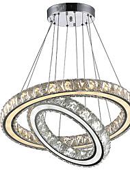 cheap -Chandelier Ambient Light Electroplated Metal Crystal, LED 110-120V / 220-240V Bulb Included / LED Integrated