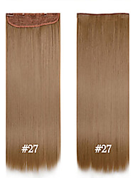 Недорогие -синтетический зажим в наращивание волос волокна прямые волосы 24inch # 27 120g 60см 5 роликов синтетические длинные WoWaN зажим для волос