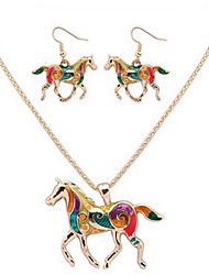 cheap -Women's Necklace / Earrings Horse Ladies Color Earrings Jewelry Silver / Golden For Daily Casual