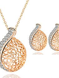 cheap -Women's AAA Cubic Zirconia Jewelry Set European Earrings Jewelry Gold For Daily