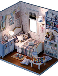 cheap -CUTE ROOM Dollhouse Pretend Play Model Building Kit Novelty House Textile Wooden Plastic 1 pcs Toy Gift