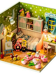 cheap -Hoomeda Dollhouse Pretend Play Novelty House Wood 1 pcs Toddler Toy Gift
