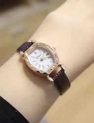 cheap -Couple's Dress Watch Fashion Watch Quartz Casual Watch PU Band Vintage Black White Brown
