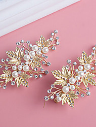 cheap -Pearl / Crystal / Alloy Hair Clip with 1 Wedding / Special Occasion Headpiece