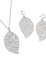 cheap -Women's Jewelry Set Sterling Silver Fashion Include Necklace / Earrings Silver For Wedding Party Daily Casual