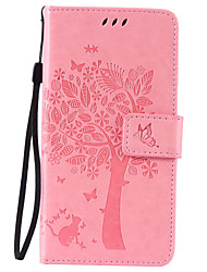 cheap -Case For LG G3 Mini / LG K8 / LG LG V10 Wallet / Card Holder / with Stand Full Body Cases Tree Hard PU Leather / LG G4 / LG K10