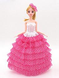 abordables -universel (hors bébé) 11 vêtements robe de mariée sac plein grande jupe arrière design robe de mariée 30 cm jupe de poupée