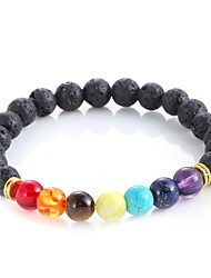 cheap -Men's Women's Agate Bead Bracelet Cheap Ladies Fashion Healing Agate Bracelet Jewelry Black For Wedding Party Daily Casual Sports