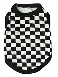 cheap -Cat Dog Shirt / T-Shirt Puppy Clothes Plaid / Check Fashion Dog Clothes Puppy Clothes Dog Outfits Breathable Black Costume for Girl and Boy Dog Cotton XS S M L