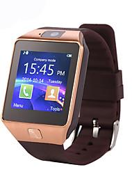 Недорогие -Смарт Часы DZ09 для Android Израсходовано калорий / Длительное время ожидания / Хендс-фри звонки / Сенсорный экран / Фотоаппарат / Секундомер / Напоминание о звонке / 0.3 мегапикс.