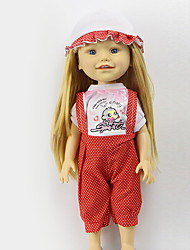 cheap -Sharon Sets Of 16-Inch Doll Clothes Fashion Princess Dress Red Hat And Clothing Accessories Three Free Baby